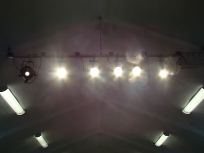 stage lights on